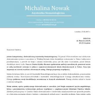 list motywacyjny po polsku i angielsku